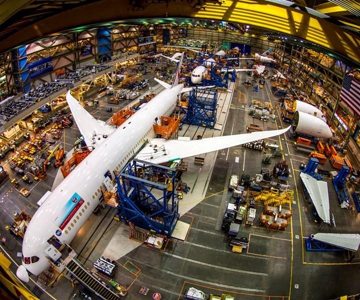 Boeing 787 facility in Everett, Washington, U.S.