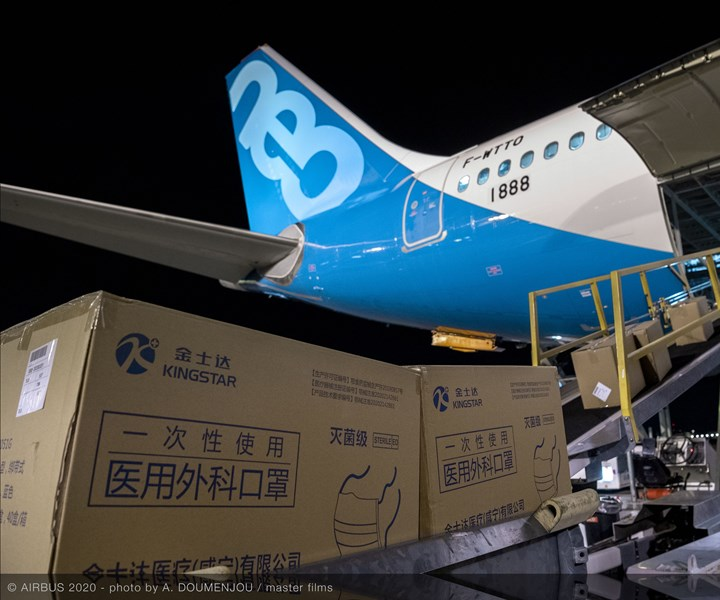 Airbus delivers masks to China in response to coronavirus