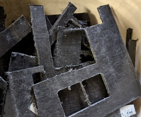 carbon fiber scrap intended for recycling