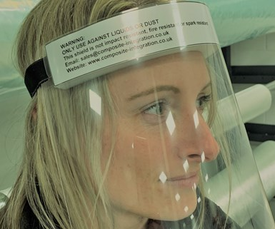 face visor to combat coronavirus pandemic