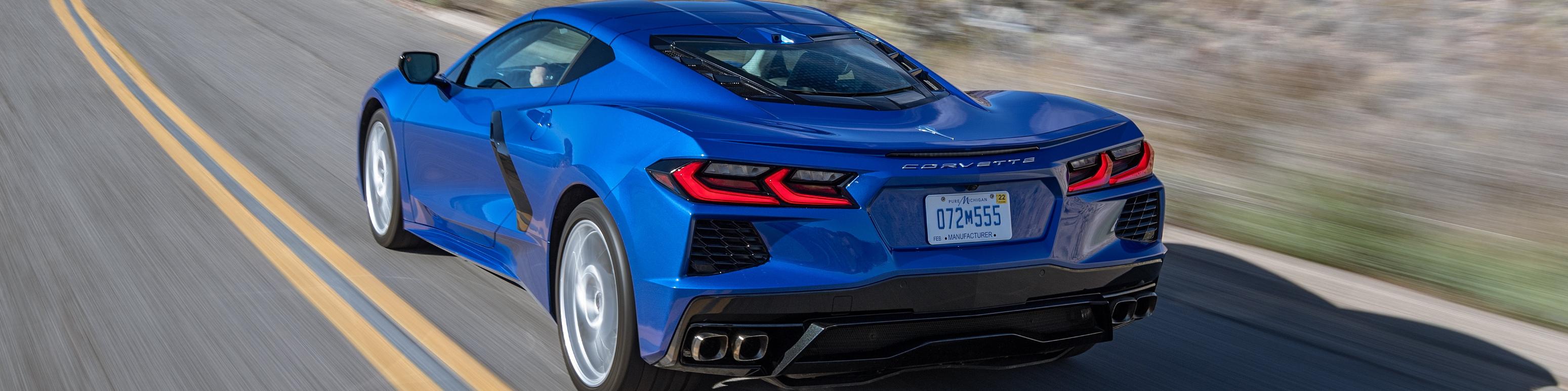 Corvette with pultruded composite rear bumper beam