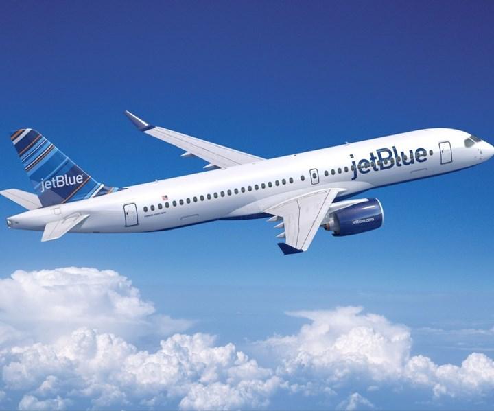 JetBlue A220 aircraft