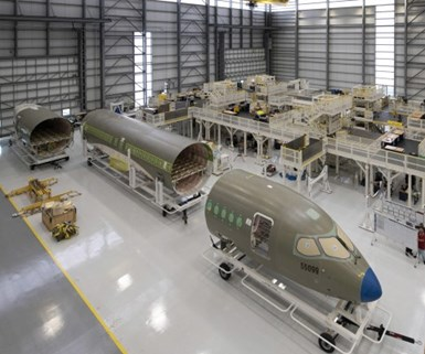 Airbus new assembly line hangar