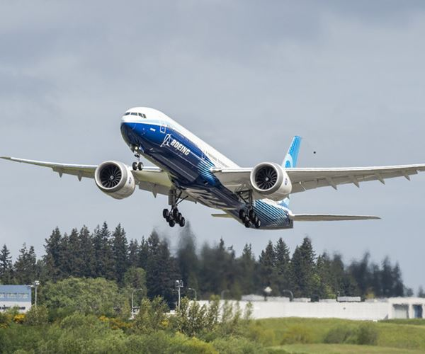 Second Boeing 777X completes first flight image