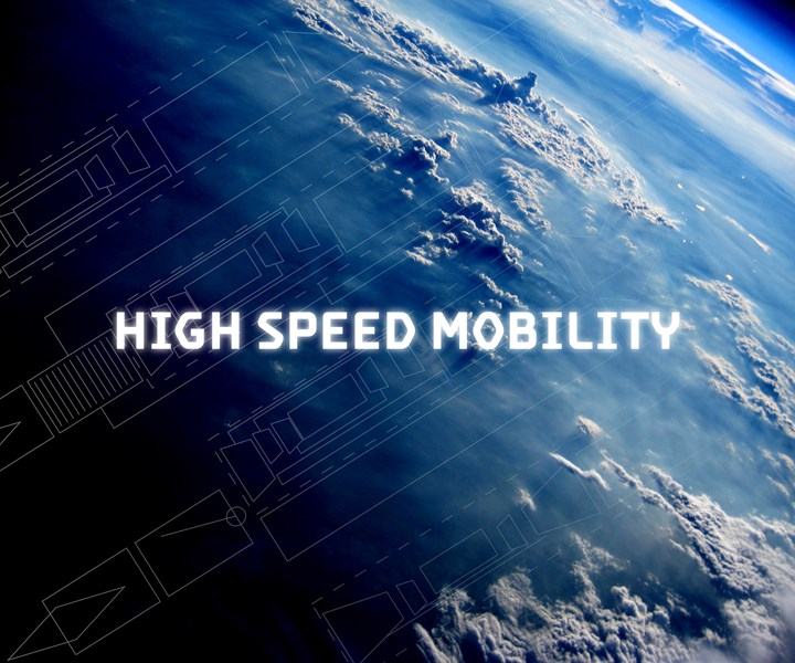 Virgin Galactic high-speed mobility graphic