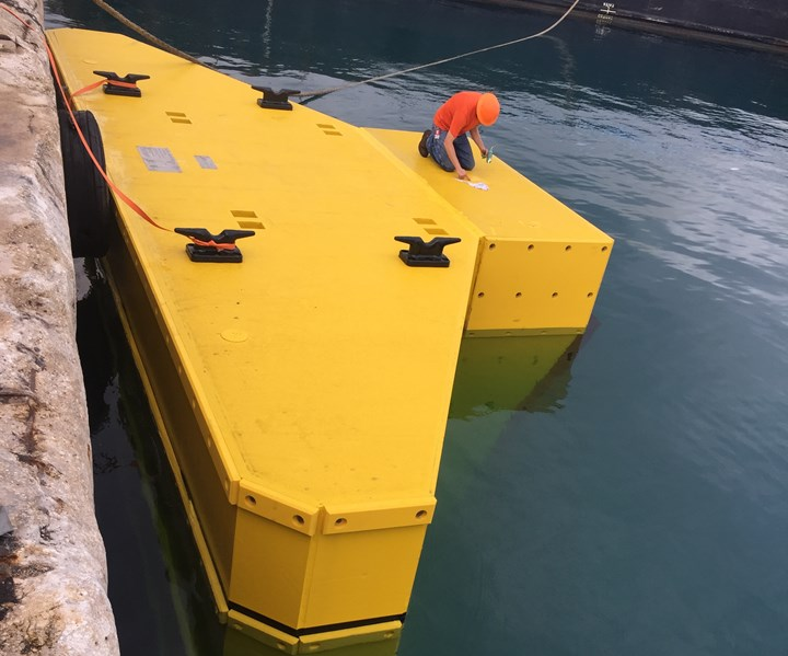 fiber reinforced plastic camel for marine infrastructure from Composite Advantage