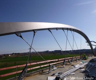 The  Stuttgart Stadtbahn bridge with 72 hangars made of CFRP