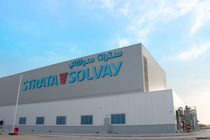 strata manufacturing joint venture solvay