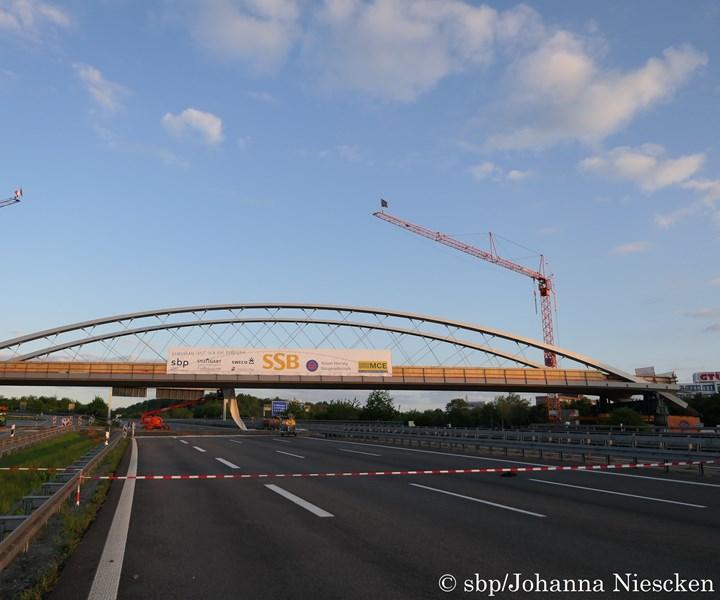 The  Stuttgart Stadtbahn bridge, made entirely of CFRP
