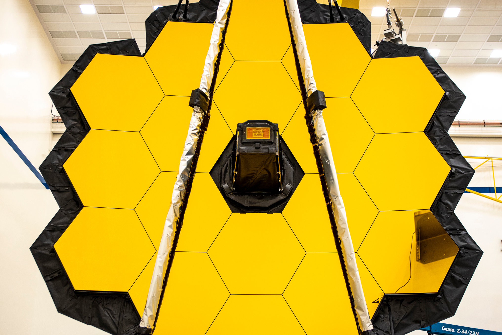 Successful tower extension test for James Webb space telescope