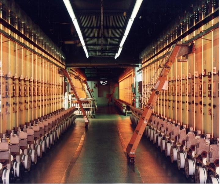 Production reactors for making boron fiber