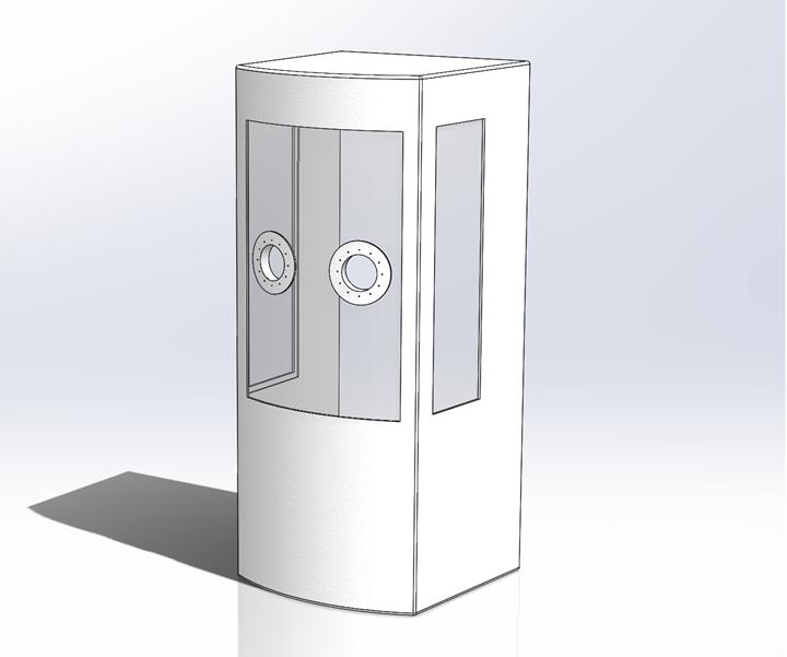 fiberglass composite COVID-19 testing booth