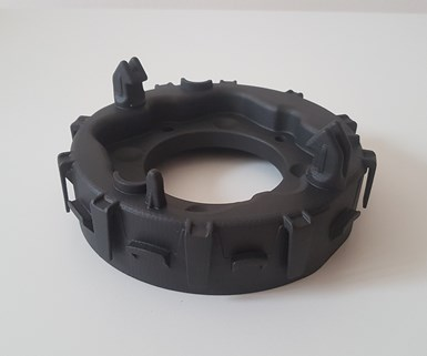 3D-printed composite airbag housing container prorotype