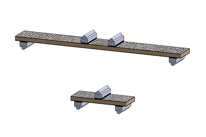 Specimen configurations used in sandwich composite flexure testing.