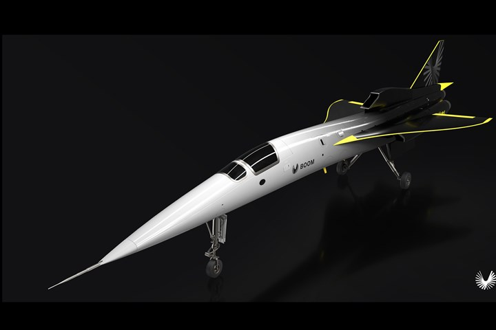 Boom Supersonic rollout for XB-1 jet