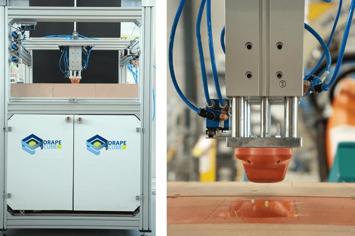 ITA DrapeCube used for production of fiber preforms
