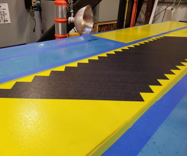 Fives Lund Slalom machine narrow carbon fiber tapes crenulations