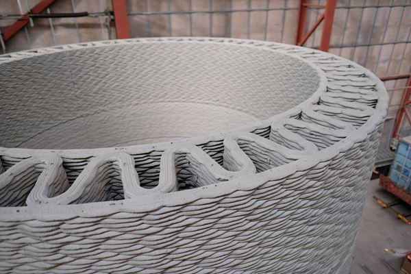 GE, COBOD, LafargeHolcim enable taller wind turbines with 3D-printed concrete base image