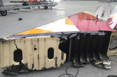 Aircraft material waste