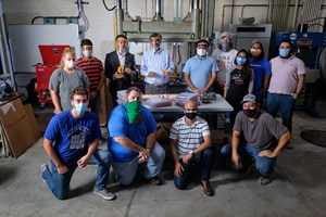 IACMI supports UT-designed face shield production