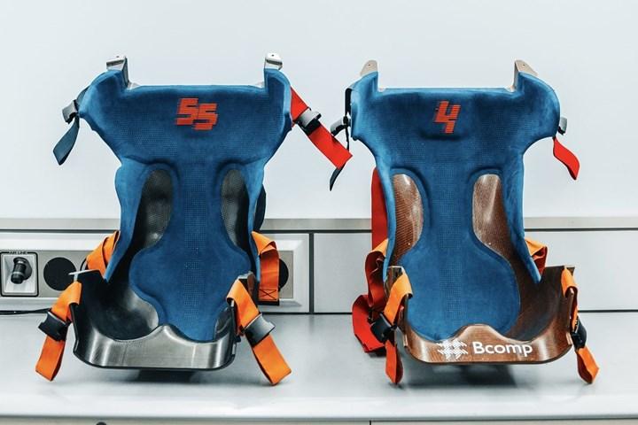 Bcomp natural fiber racing seats