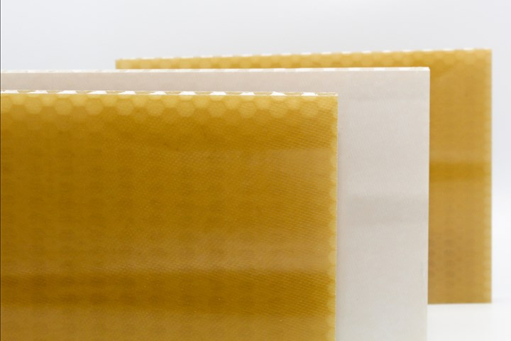 FST-qualified thermoplastic honeycomb panels