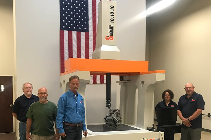 AIMS Metrology CMM system for composites testing