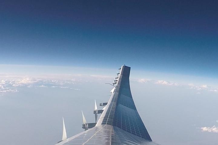 A panoramic view of AeroVironment's Sunglider