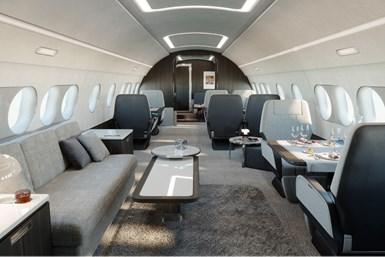 ACJ TwoTwenty cabin interior