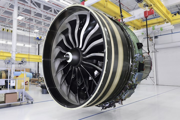 GE Aviation's GE9X engine