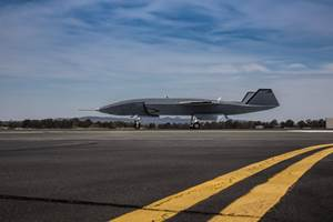 Unmanned Loyal Wingman aircraft performs low-speed taxi test