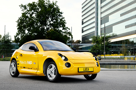 Luca, the sustainable concept car made from all recycled material