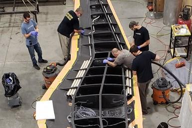 Beta Technologies ALIA 250c wing structure layup
