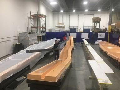 Beta Technologies ALIA 250c wing spar fabrication