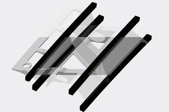 Skeletal windshield design based on injection molding with carbon fiber profiles