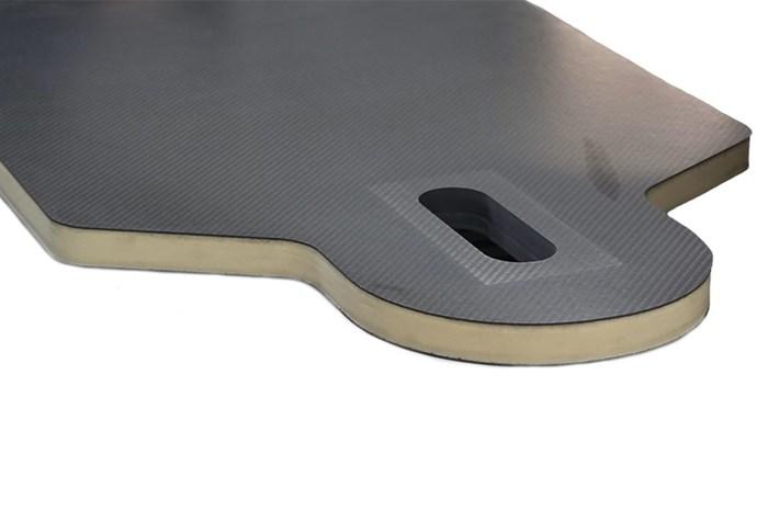 Composite sandwich panels enable flexibility in medical table design