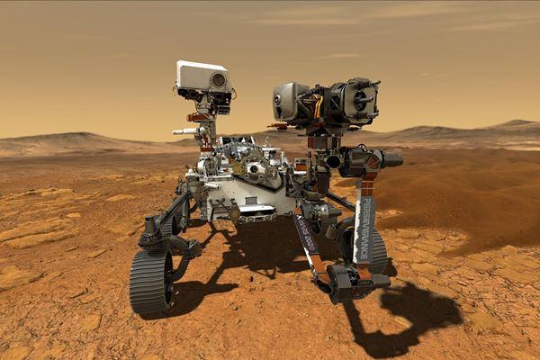 复合材料发射到火星图像