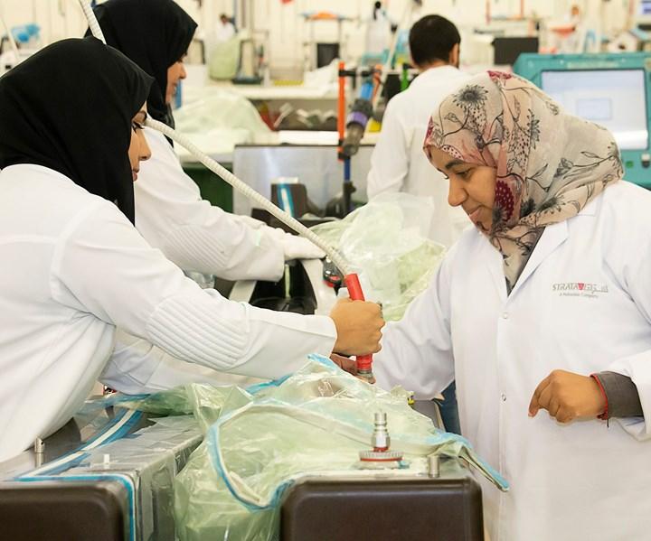 Strata Manufacturing women in aerospace manufacturing