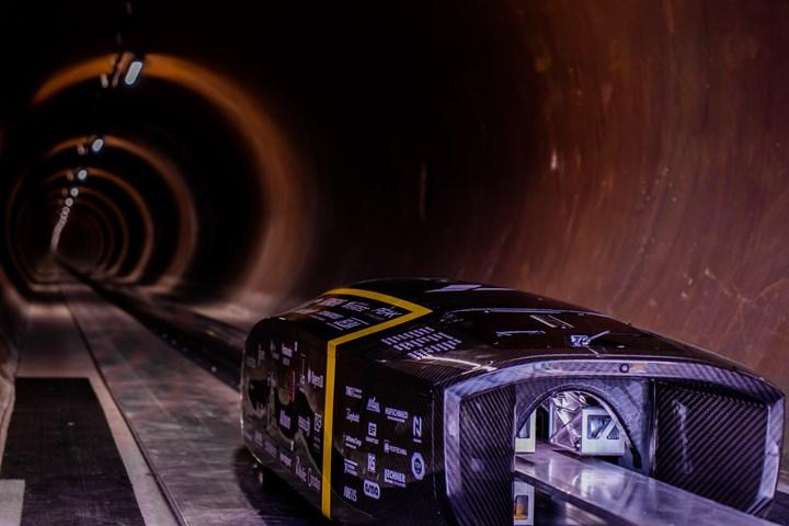 TU Munich composites in Hyperloop pod