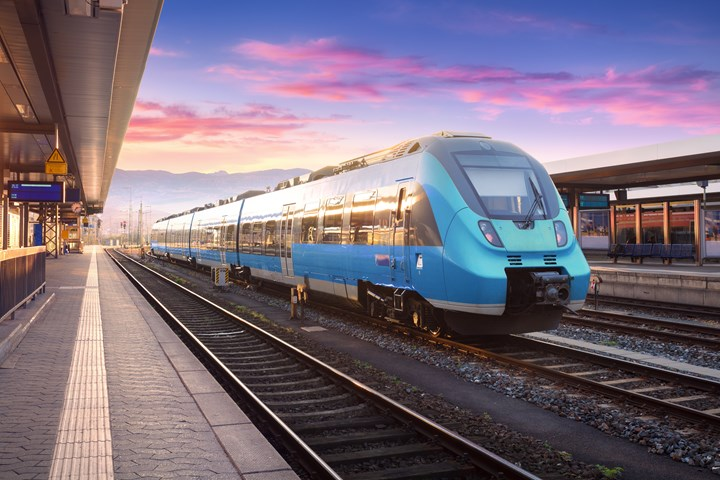 Stock image of a commuter train