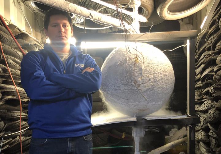 spherical all-composite cryotank