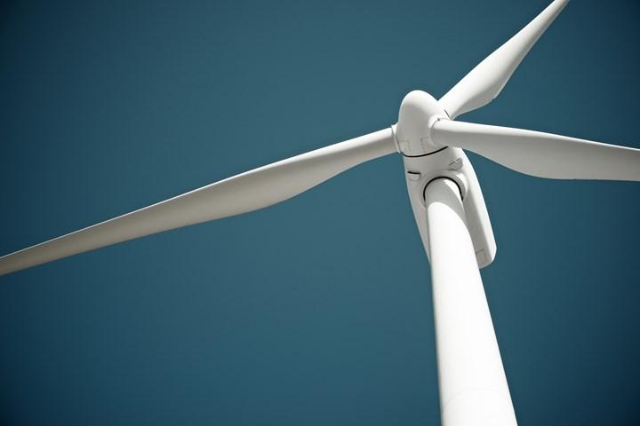 Wind blade stock image