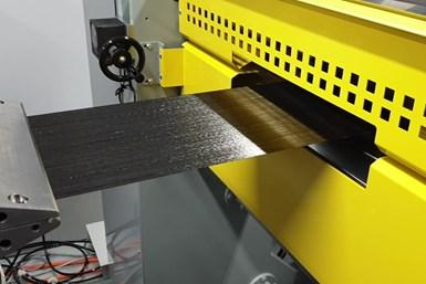 Cygnet Texkimp Direct Melt Impregnation Thermoplastic Line tape closeup