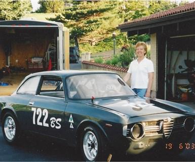 Sara Black CompositesWorld Alfa racer