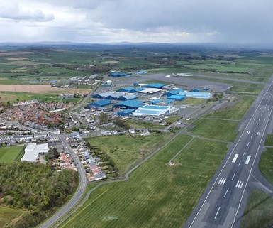 Spirit AeroSystems Prestwick location, aerial view