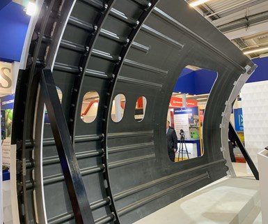 Spirit AeroSystems demonstrator fuselage, Paris Air Show 2019