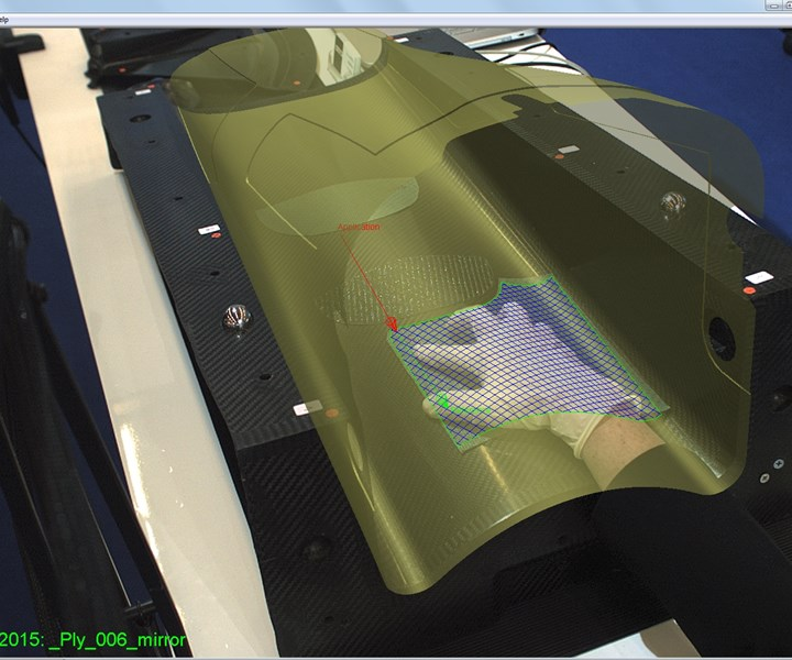 Anaglyph PlyMatch software for hand layup of composites