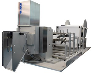 Automated system eliminates manual material pleating, cutting