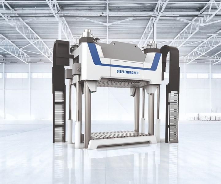 Dieffenbacher Fiberpress sheet molding compound SMC