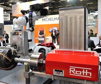 Roth offers filament winding automation, prepreg and towpreg equipment